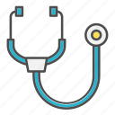 doctor, health, ill, medical, stethoscope icon