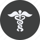 caduceus, drug, health, healthcare, hospital, medical icon