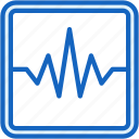 analyze, healthcare, heartbeat icon
