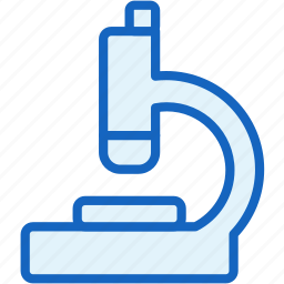 healthcare, microscope icon
