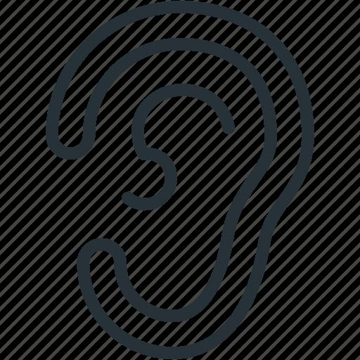 ear, healthcare icon