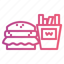 fast, food, junk icon