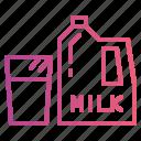 bottlet, drink, milk icon