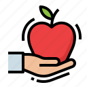 apple, diet, food, health, healthy icon