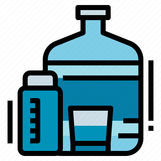 bottle, equipment, healthy, tank, water icon