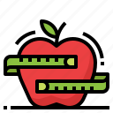 apple, food, health, healthy, strong icon