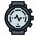 exercise, fitness, running, sport, watch icon