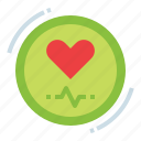 exercise, healthy, heart, rate icon
