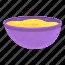 muesli, bowl, tasty, white
