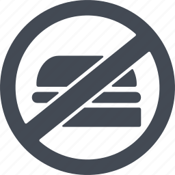 healthy eating, products, prohibited products, prohibition sign icon