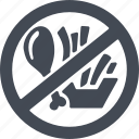 healthy eating, high-calorie foods, products, prohibited products icon