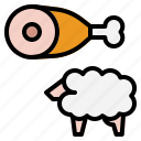 lamb, protien, sheep icon