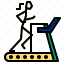 machine, running, track icon