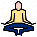 meditation, relaxation, yoga icon
