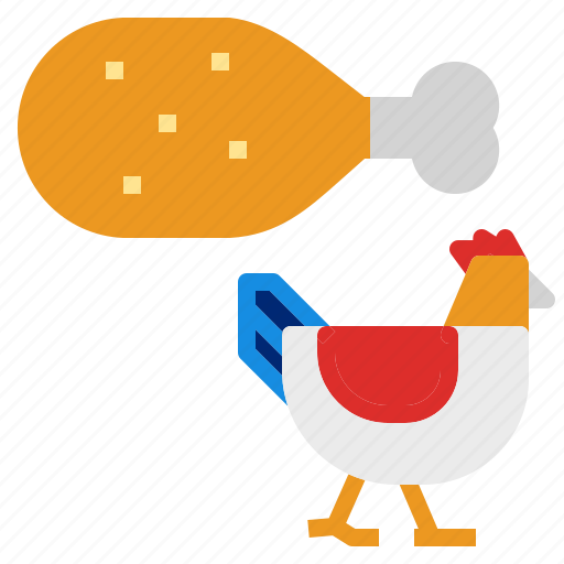 chicken, leg, roast icon