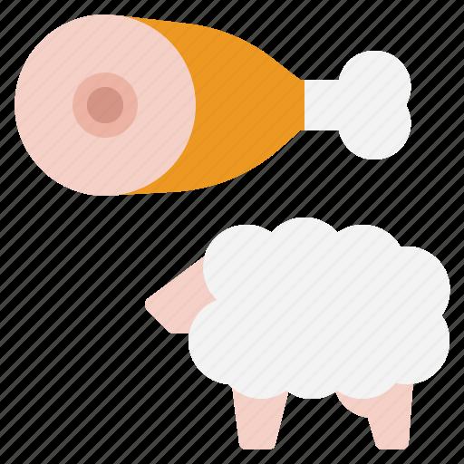 lamb, protien, sheep icon