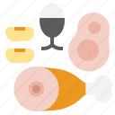 bean, beef, egg, protien icon