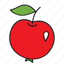 apple, bio, food, fruit, product, red, vegan icon