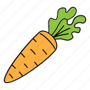 bio, carrot, food, healphy, product, vegan, vegatable icon