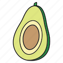avocado, bio, diet, food, fruit, product, vegan icon