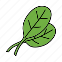 basil, bio, food, grass, herb, leaf, vegan icon