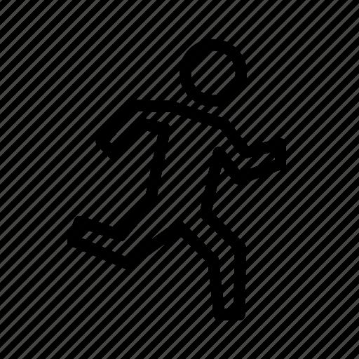Exercise, jog, jogging, run, workout icon - Download on Iconfinder
