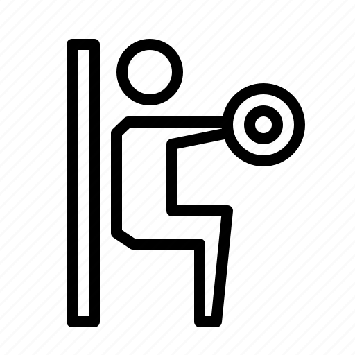 Dumbell, exercise, fitness, gym, squat, wall, workout icon - Download on Iconfinder