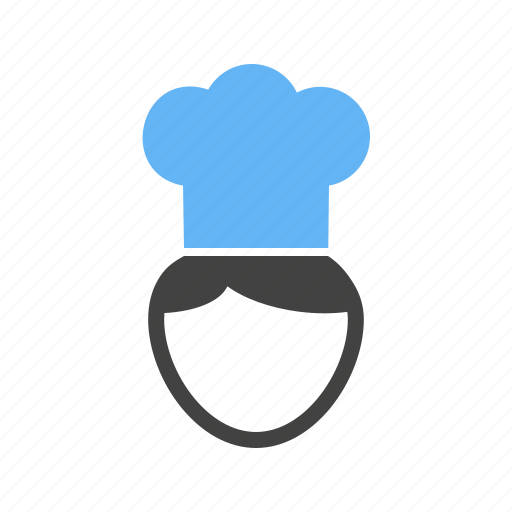 cap, chef, cook, in icon