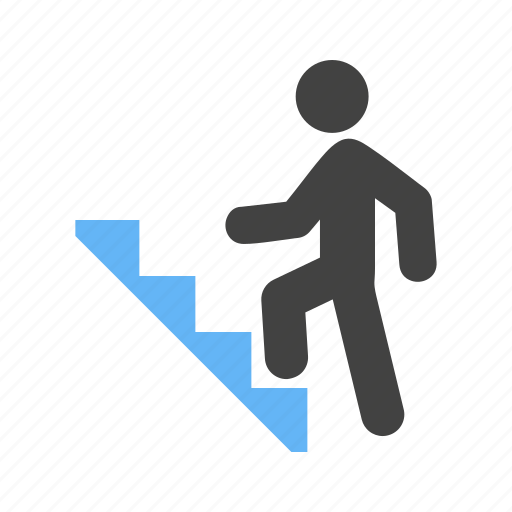 climbing, ladders, man, stairs icon