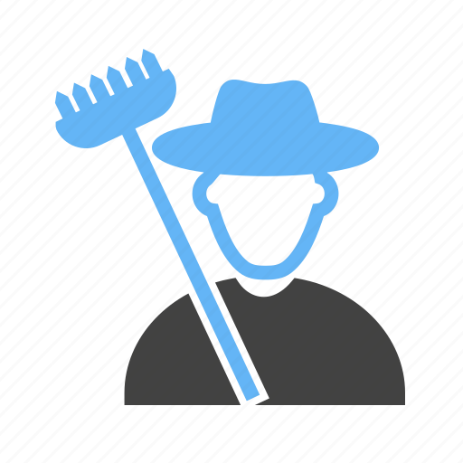 farmer, farming, tools, with icon