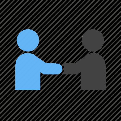 friendship, handshake, interaction, mutual icon