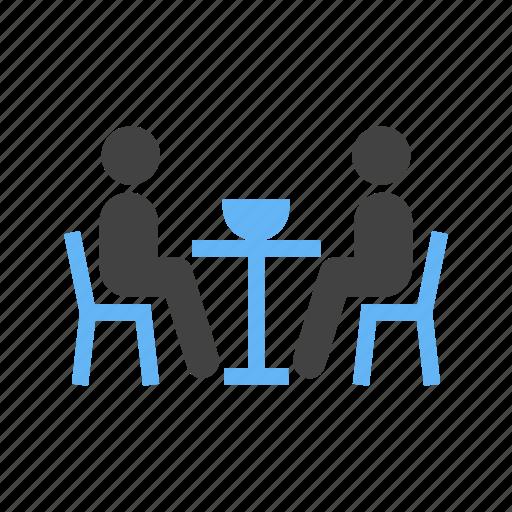 dinner, dinning, having, table icon
