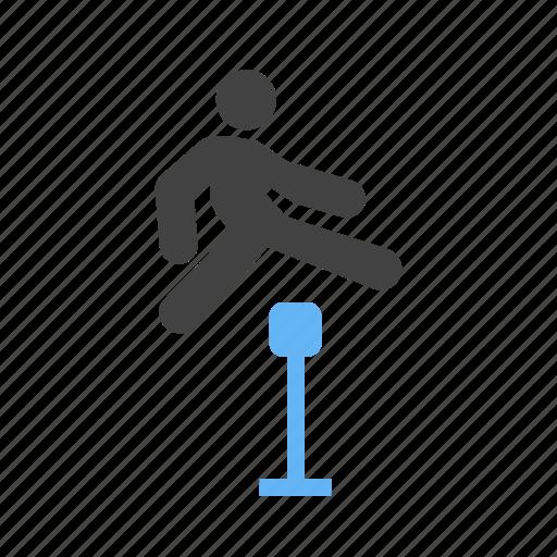 enjoying, joy, jumping, with icon