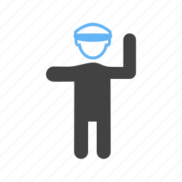 cars, controlling, policeman, traffic icon
