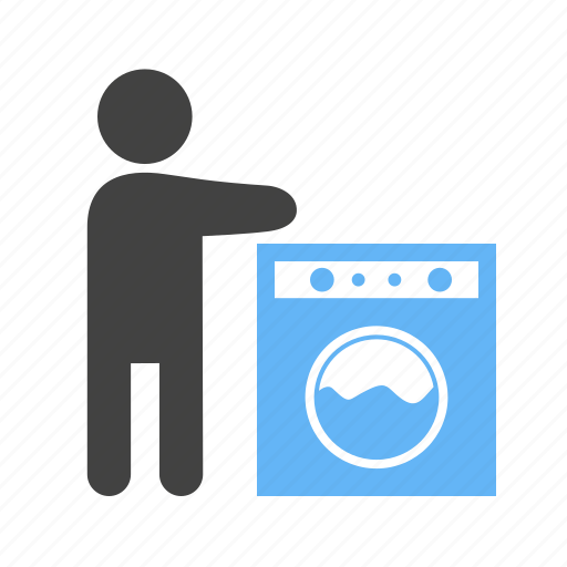 in, machine, utensils, washing icon