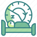 bed, bedroom, clock, night, rest, sleep, time icon