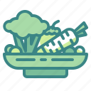 farming, food, healthy, organic, slad, vegetable, vegetarian icon