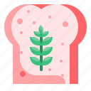 bakery, bread, breakfast, dessert, food, meal, toast icon