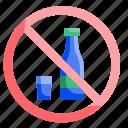 alcohol, drink, forbidden, no, noalcohol, prohibition icon