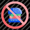 berger, fastfood, food, forbidden, healthy, no, nofastfood icon