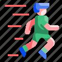 cardio, fast, healthy, man, runner, running, sport icon
