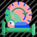 bed, bedroom, clock, night, rest, sleep, time