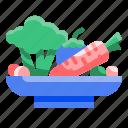 farming, food, healthy, organic, slad, vegetable, vegetarian icon