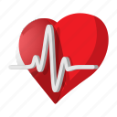 cardiogram, cardiology, care, cartoon, heartbeat, medical, pulse icon