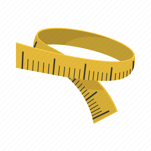cartoon, centimeter, measure, measurement, ruler, scale, tape icon