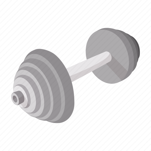 barbell, cartoon, dumbbell, fitness, health, muscle, strength icon
