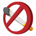 cartoon, cigarette, forbidden, health, no, tobacco, warning icon