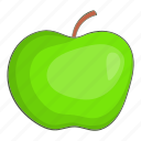 apple, cartoon, delicious, diet, green, natural, organic icon
