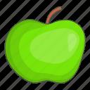 apple, cartoon, delicious, diet, green, natural, organic