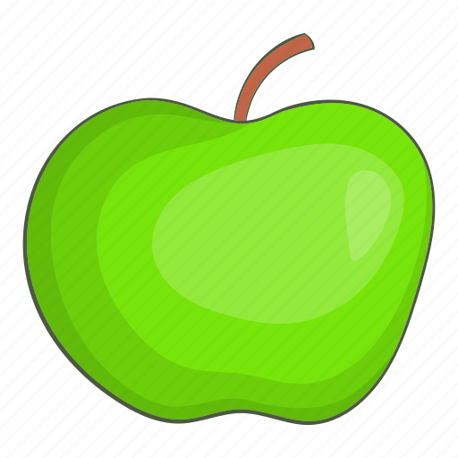 Apple, cartoon, delicious, diet, green, natural, organic icon - Download on Iconfinder